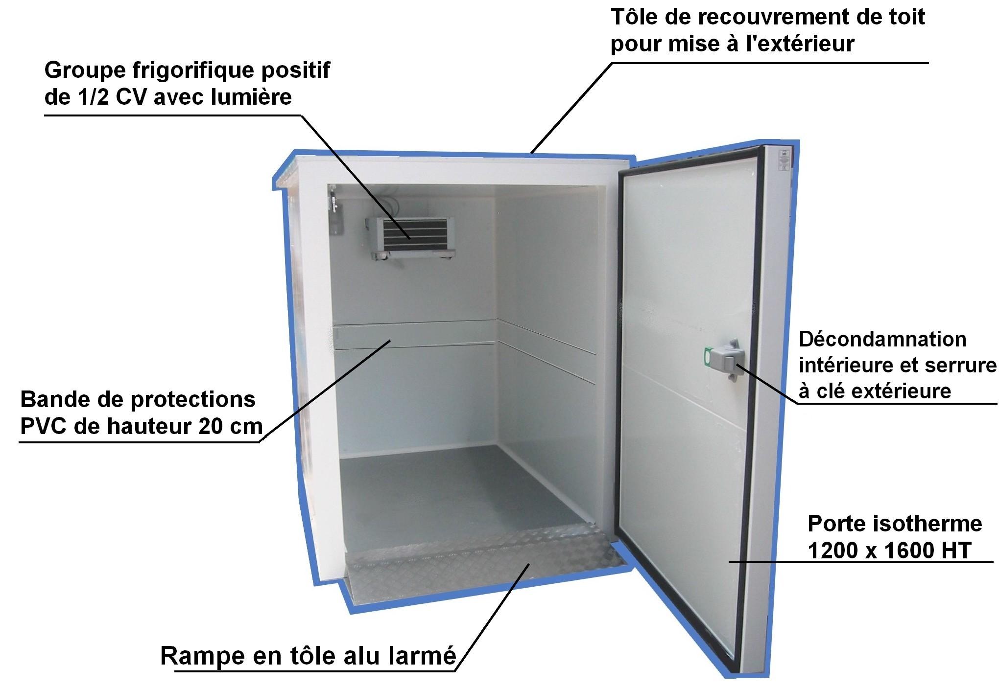Acheter une chambre froide positive for Panneau sandwich chambre froide d occasion